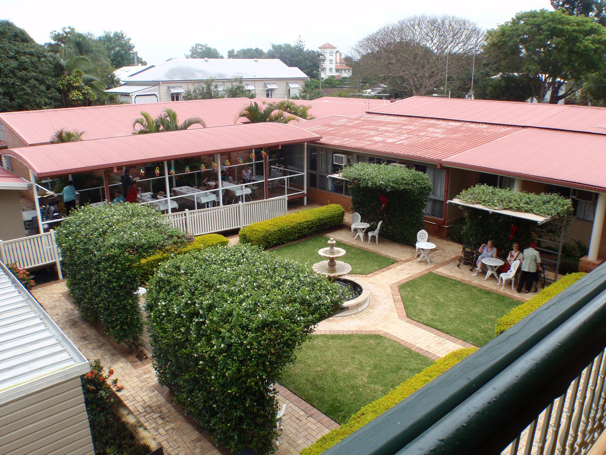 Courtyard birds-eye view