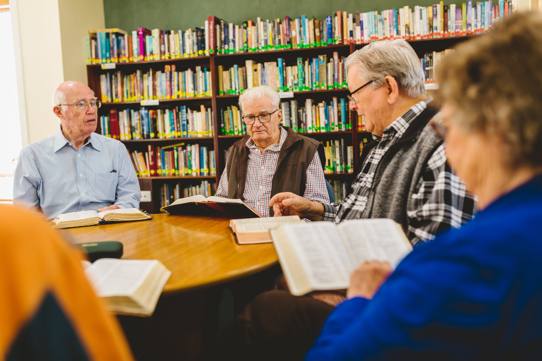 Library Bible study