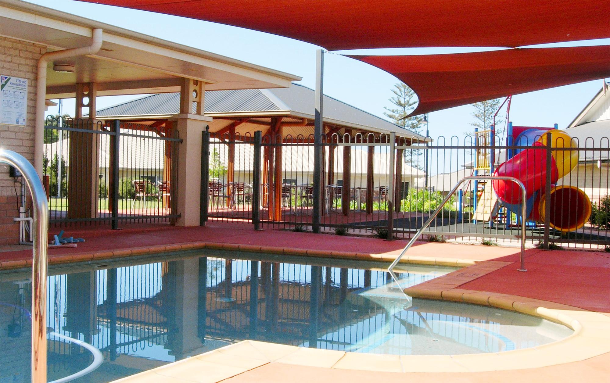 Pool and playground